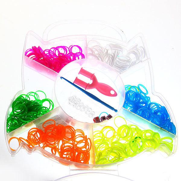 Набор резинок для плетения браслетов 600штук 6 цветов Совушка купить оптом и в розницу