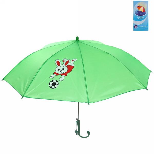 Зонт детский полуавтомат со свистком ″Веселый зайка″, 8 спиц, d-80см, длина в слож. виде 45см купить оптом и в розницу