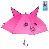 Зонт детский полуавтомат со свистком ″Кошечка″ 90-d 514-18 купить оптом и в розницу