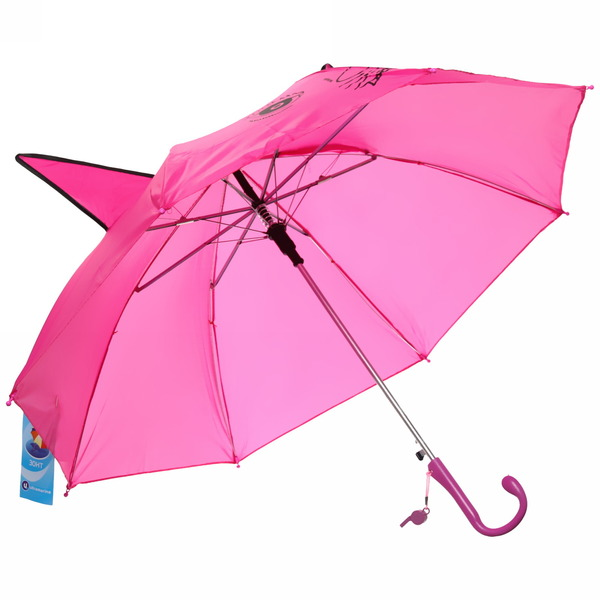 Зонт детский полуавтомат со свистком ″Рысь″, 8 спиц, d-76см, длина в слож. виде 45см купить оптом и в розницу