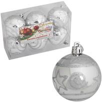 Новогодние шары ″Снежная фиерия″ 6см (набор 6шт.) купить оптом и в розницу