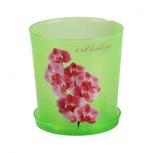 Горшок цв. для орхидеи 1,8 л.с под(зел.прозр)(уп30)(Октябрьский) купить оптом и в розницу