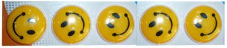 """Магниты д/досок D-30мм YIWU """"Смайлики"""" 5шт желтые купить оптом и в розницу"""