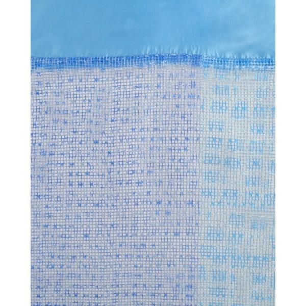 Штора Бриз 142*250см 60538 голубая сетка 60538 купить оптом и в розницу