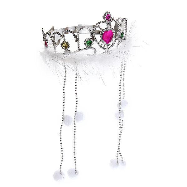 Корона пластиковая карнавальная ″Снегурочка″ 1656-112 купить оптом и в розницу