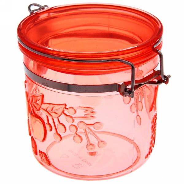 Банка для продуктов пластиковая с зажимом 500мл ″Яблоки″ купить оптом и в розницу