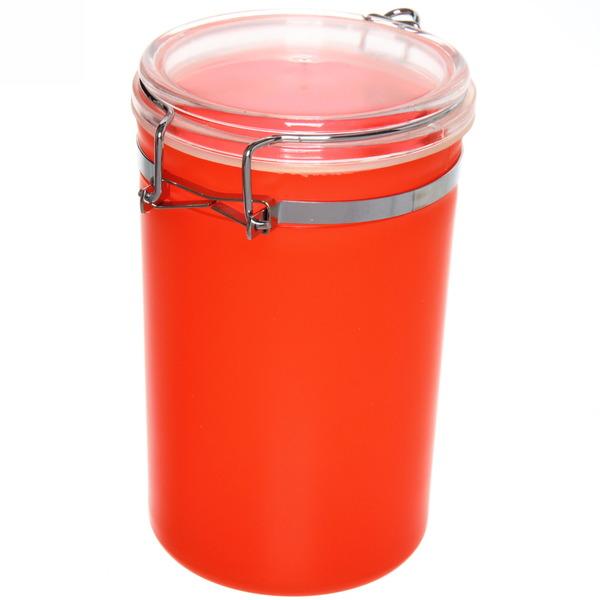 Банка для продуктов пластиковая с зажимом 900мл ″Радуга″ купить оптом и в розницу