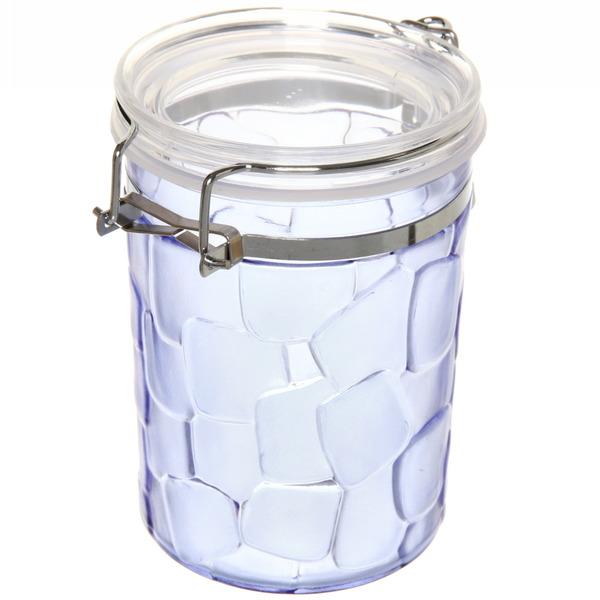 Банка для продуктов пластиковая с зажимом 700мл ″Квадраты″ купить оптом и в розницу