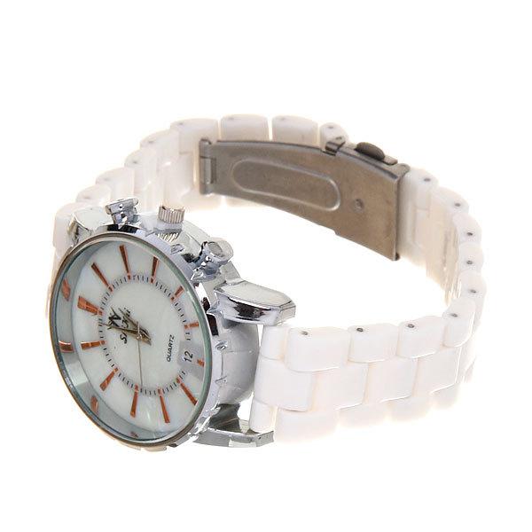 Часы наручные под керамику, цвет белый, классический циферблат купить оптом и в розницу