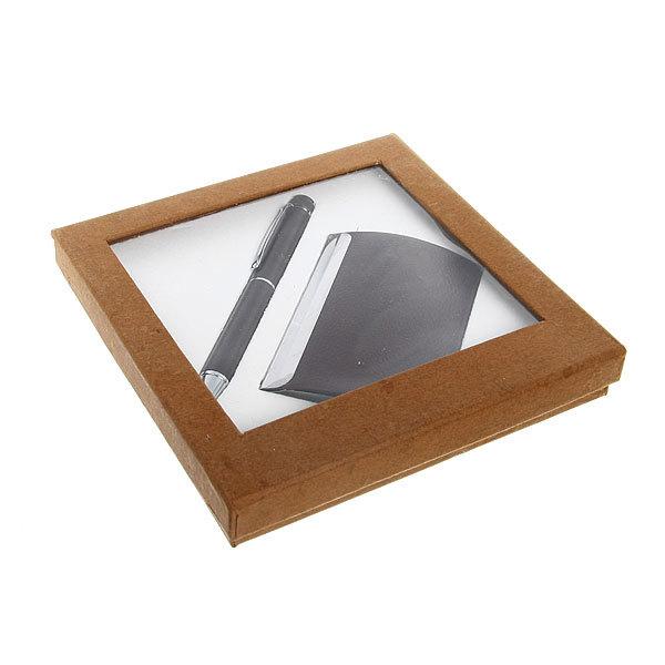 Подарочный набор ″Классика″(ручка+визитница) 15*15см купить оптом и в розницу