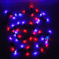 Гирлянда светодиодная уличная 5 м, 400 ламп LED Фиолетовый, 8 реж, черн.пров. купить оптом и в розницу