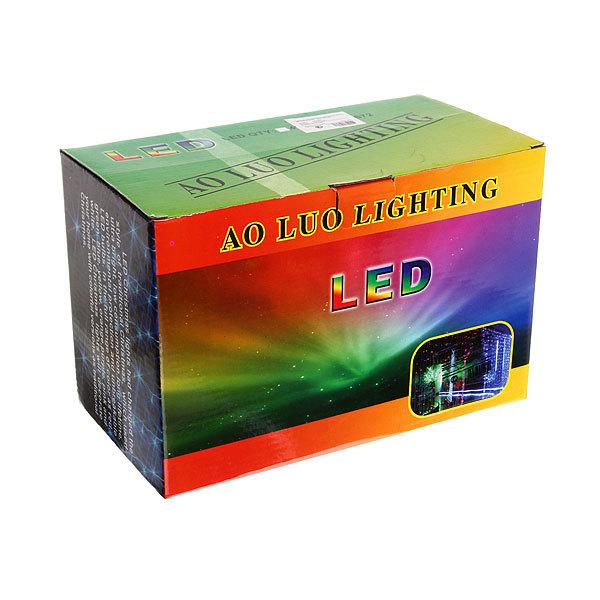 Занавес светодиодный ш 2 * в 2,5м, 672 лампы LED, ″Водопад″, Теплый Белый, 8 реж, прозр.пров. купить оптом и в розницу