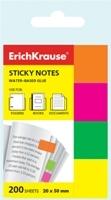 Закладки Erich Krause цветн.неон. 20*50, 4цв.*50л купить оптом и в розницу