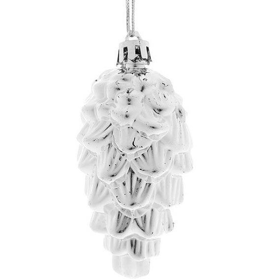 Новогодние шары (46шт) серебро D06-285 купить оптом и в розницу