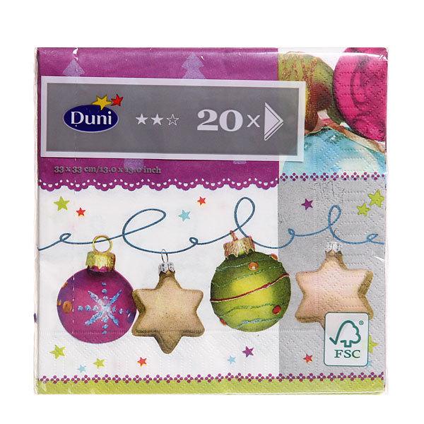 Салфетки бумажные Новогодние DUNI 3-сл. 33 см; CHRISTMAS FLAIR, (20 шт/уп), 12 уп/кор: 166186 купить оптом и в розницу