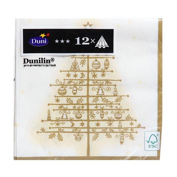 Салфетки DUNI DUNILIN soft 40 см; GOLDEN TREE WHITE, (12 шт/уп), 12 уп/кор : 163814 купить оптом и в розницу
