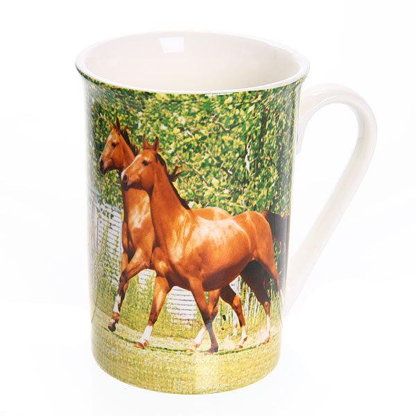 Кружка фарфоровая 290мл ″Лошади″ WT1326-5 купить оптом и в розницу