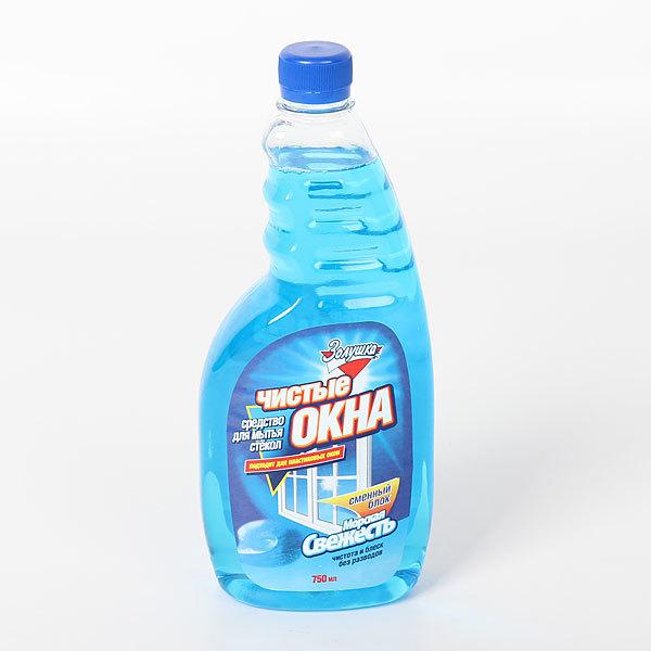 Средство для мытья стекол ЗОЛУШКА Чистые окна Морская свежесть сменный блок 750 мл. купить оптом и в розницу