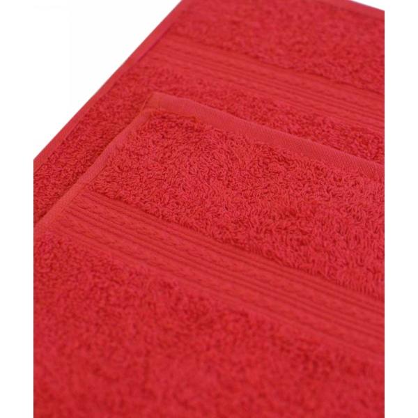 Махровое полотенце 100*180см Красное купить оптом и в розницу
