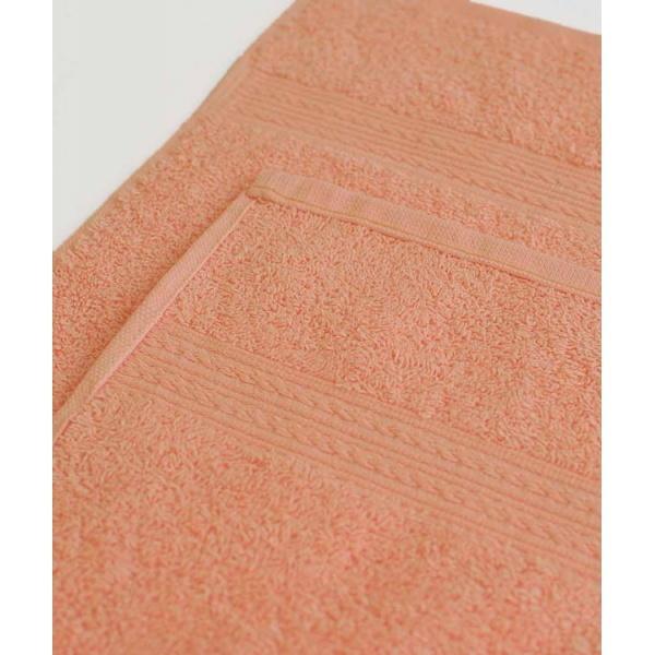 Махровое полотенце 100*180см Персиковое купить оптом и в розницу