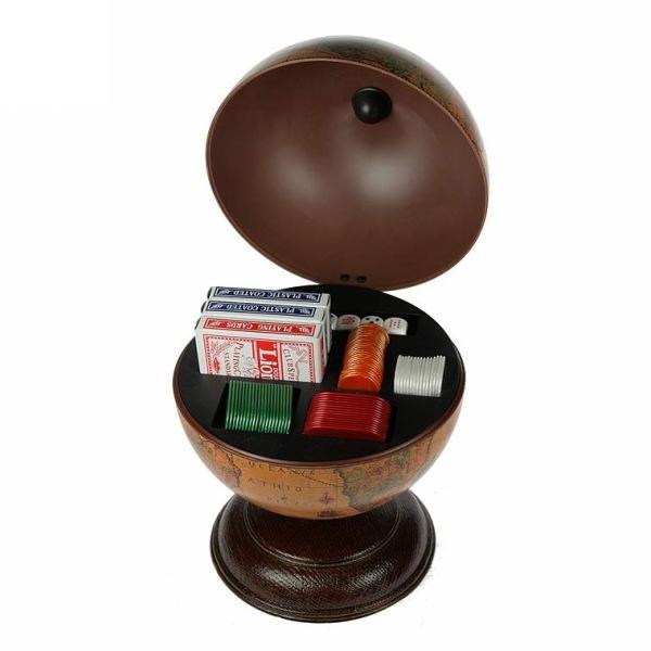Глобус-казино настольный d=22 см 32 см 247023 (Р) купить оптом и в розницу