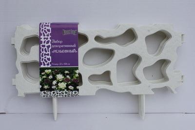 Забор декоративный № 3 (22*326) белый 1/6 купить оптом и в розницу