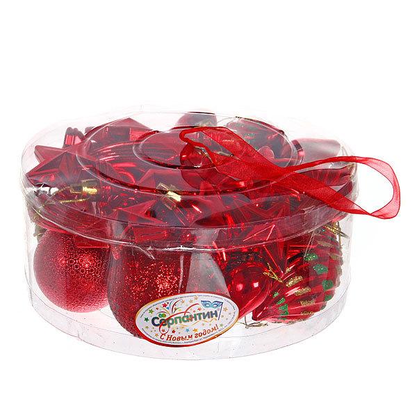 Новогодние шары (25шт) ″Новогодний Рубин″ LH02 купить оптом и в розницу