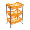 Этажерка универсальная ″Джета″ 3 корзины на колесиках оранжевая С735ОРЖ купить оптом и в розницу