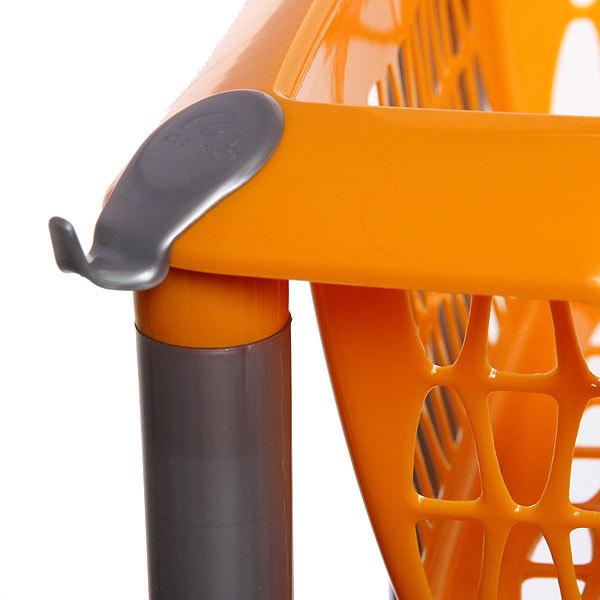 Этажерка универсальная ″Джета″ 3 корзины на колесиках оранжевая купить оптом и в розницу