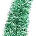 Мишура новогодняя 2 метра 9см ″Ветка Ели″ зеленый, серебро купить оптом и в розницу