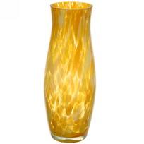 Ваза стеклянная 26см стеклокрошка желтая купить оптом и в розницу