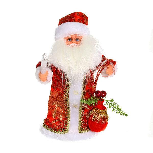 Дед Мороз музыкальный 30см со свечкой купить оптом и в розницу