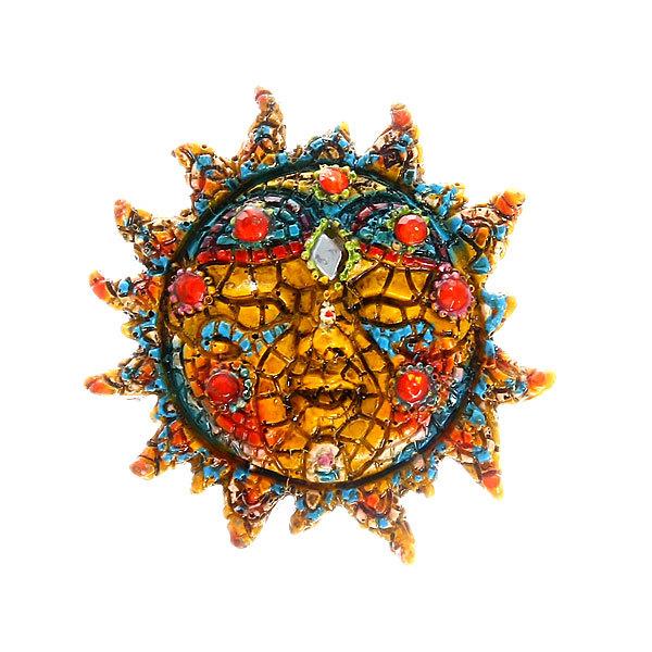 Магнит из полистоуна ″Мозаика″ солнце купить оптом и в розницу