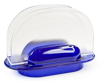Салфетница  Санти  (синий полупрозрачный)  *24 купить оптом и в розницу