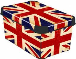 Коробка декоративная STOCKHOLM XL british flag/10 шт  Curver  (39,5х29,5х25)см купить оптом и в розницу
