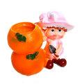 Фигурка подставка под ручки ″Милашка с фруктами″ 9*9,5см (цена за 1шт) купить оптом и в розницу