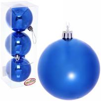 Новогодние шары 7 см (набор 3 шт) ″Глянец″, синий купить оптом и в розницу