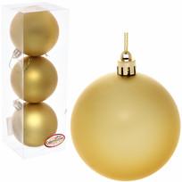 Новогодние шары 7 см (набор 3 шт) ″Матовый″, золотой купить оптом и в розницу
