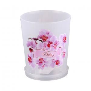 Горшок цв. для орхидеи 0,7л с поддоном (уп.20) (Октябрьский) купить оптом и в розницу