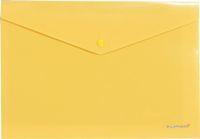 Папка-конверт с кноп. А4 180мк Erich Krause Envelope непрозр., желтый купить оптом и в розницу