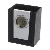 Часы многофункциональные 509 стаканчик для ручек (иск. кожа) купить оптом и в розницу