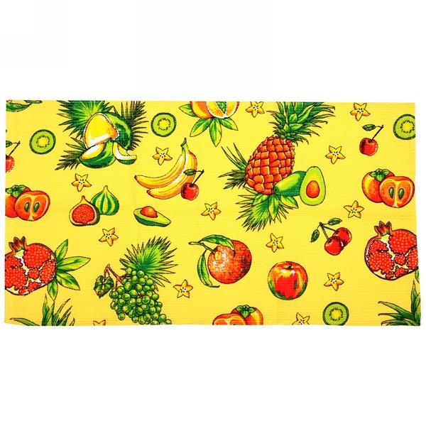 Полотенце вафельное 40*75см ″Тропический фрукт″ желтое купить оптом и в розницу