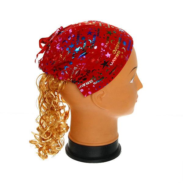 Ободок карнавальный с волосами (тюбитейка) купить оптом и в розницу