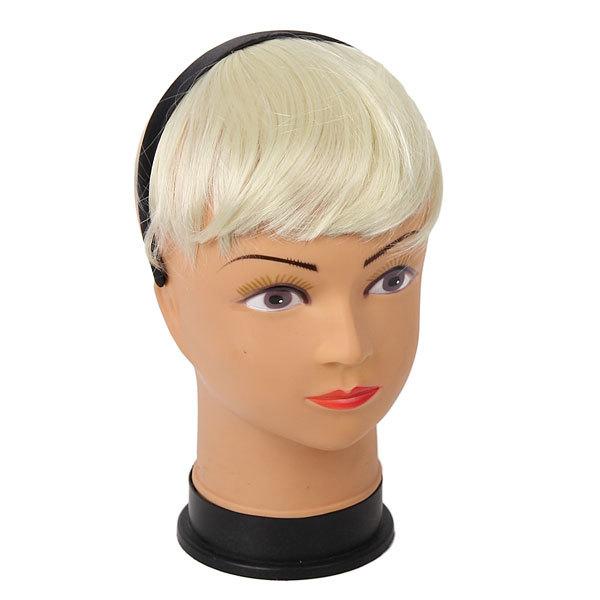 Волосы накладные ″Челка на ободке″ белый цв 131-2 купить оптом и в розницу