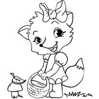 Набор ДТ Роспись по холсту Лисенок 63887 Color Puppy купить оптом и в розницу