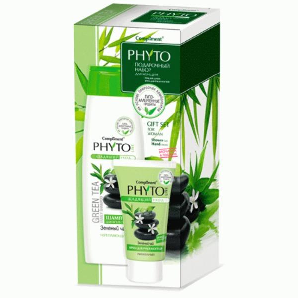 Подарочный набор женский ″Олива″ (крем для рук и гель для душа) Compliment Phyto Line купить оптом и в розницу