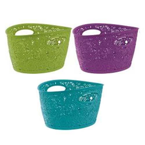 Корзинка VICTORIA бирюз.,фиолет.,зелен./* 6 шт Curver 290*210*160 купить оптом и в розницу