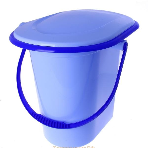 Ведро-туалет 17л. (голубой)(уп.10)  (Октябрьский) купить оптом и в розницу
