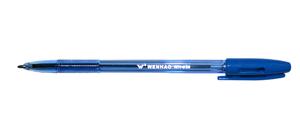 """Ручка шар.YIWU """"Wenhao"""" 1мм синяя, тонир. син. корпус купить оптом и в розницу"""