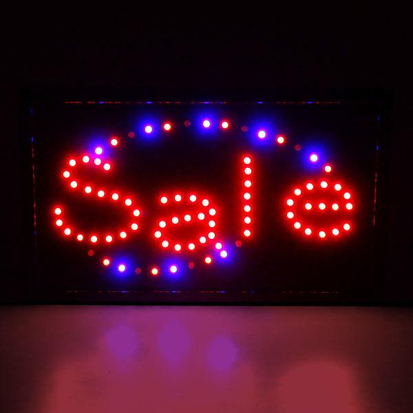 Световое табло LED 55*33см ″Sale″ 220В 2цвета купить оптом и в розницу